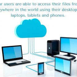 Cloud based file sharing using mobile phones and Computers