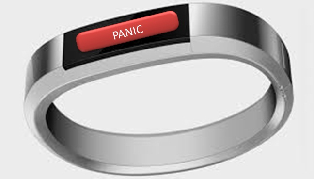 Fancy bangle based panic alert triggering for women's through android phone