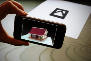 Marker based augmented reality for Product show case