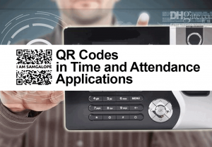 Automatic QR code based attendance system